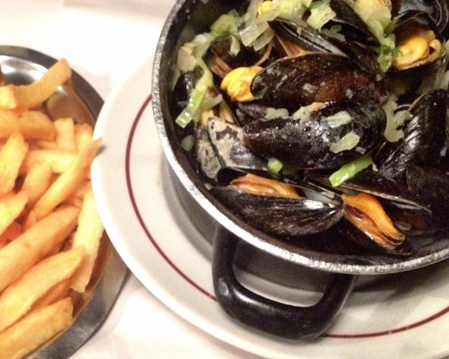Belgian mussels and fries