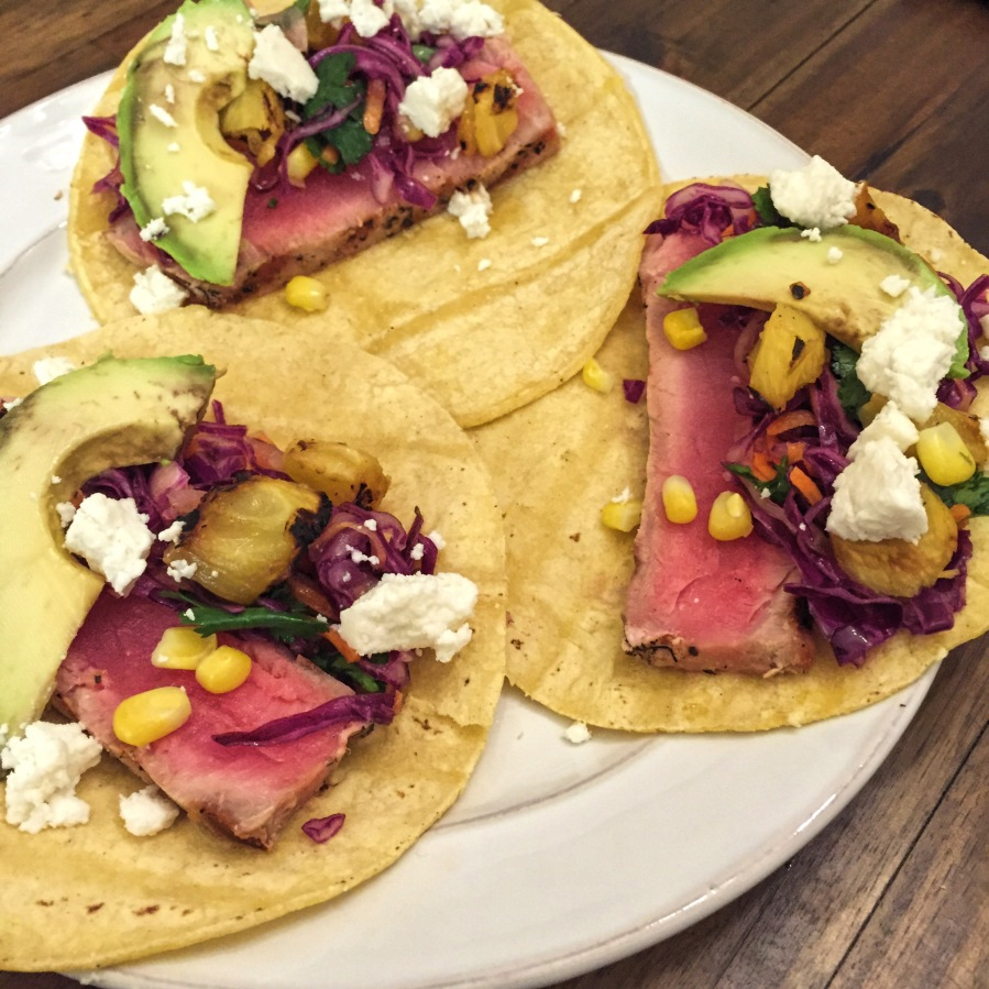 grilled ahi tuna tacos