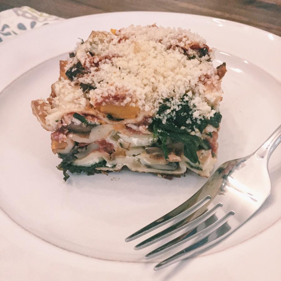 butternut squash + brie lasagna