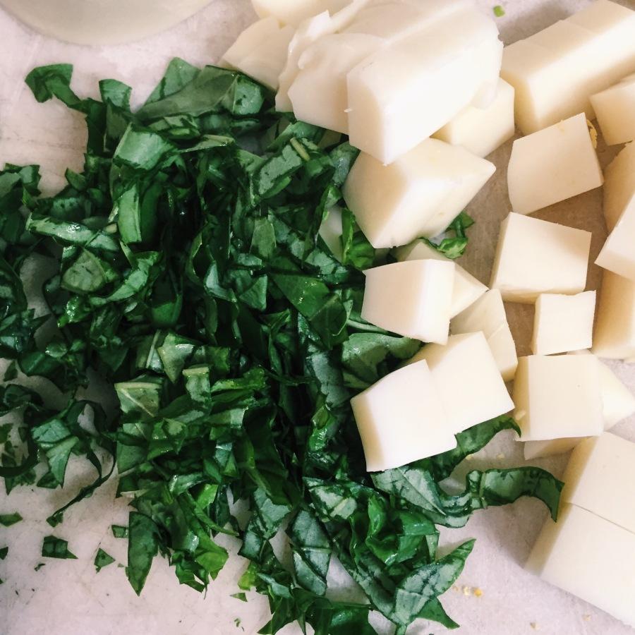 basil mozzarella