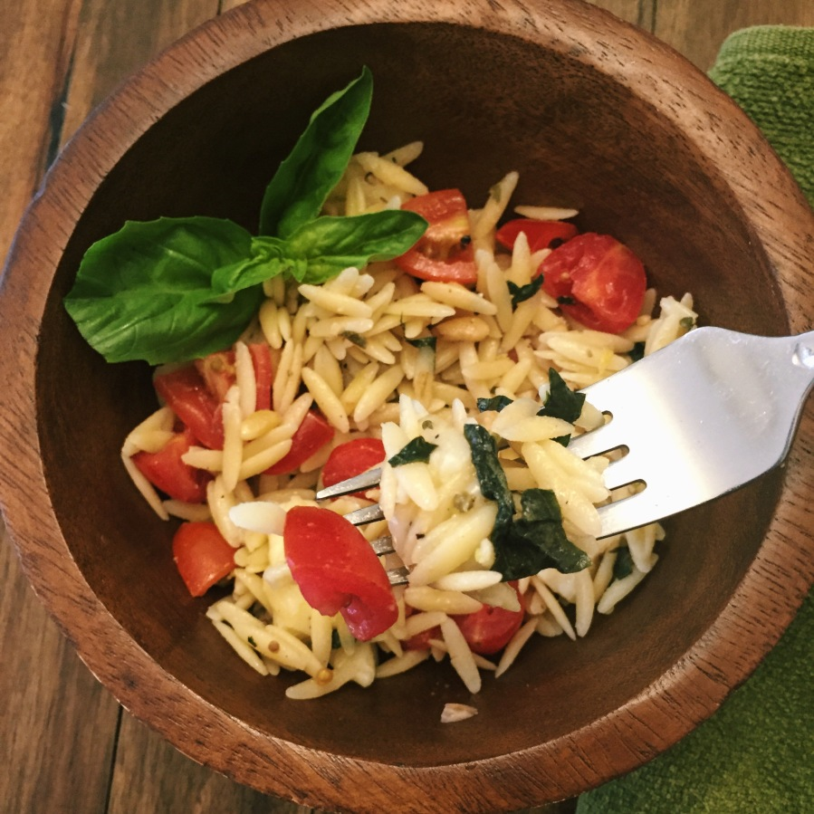 lemon and herb orzo