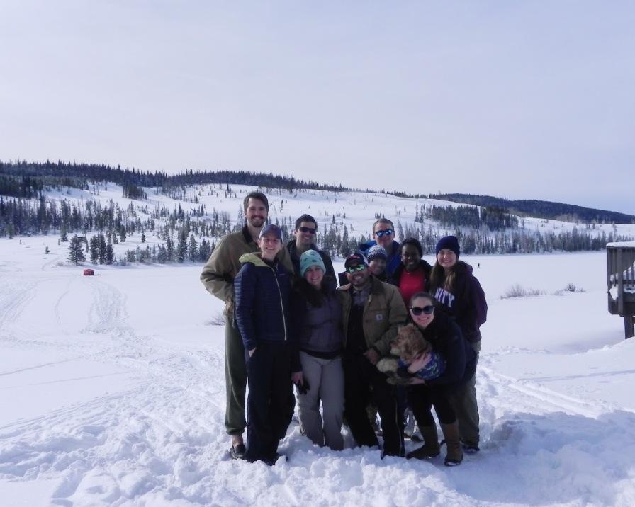 Ice fishing crew