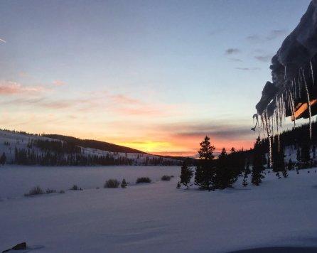 Ice fishing landscape