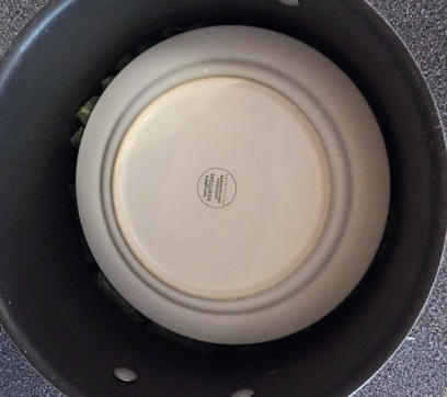 Placing the plate on top